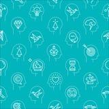 Teste padrão 3 do ícone do vetor do processo da mente ilustração stock