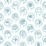 Teste padrão 2 do ícone do vetor do processo da mente ilustração stock