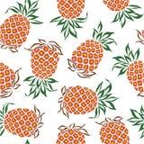 Teste padrão do abacaxi Imagem de Stock Royalty Free