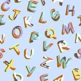 Teste padrão do alfabeto Fotos de Stock Royalty Free