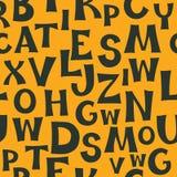 Teste padrão do alfabeto inglês Imagens de Stock Royalty Free