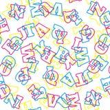 Teste padrão do alfabeto Letras do vetor Fotografia de Stock