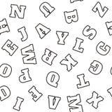 Teste padrão do alfabeto Vetor Imagem de Stock Royalty Free