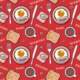 Teste padrão do alimento com café da manhã. Imagem de Stock Royalty Free