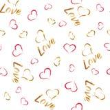Teste padrão 1 do amor Fotografia de Stock Royalty Free