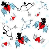 Teste padrão do amor ilustração royalty free