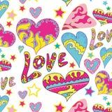 Teste padrão do amor do coração do fundo Fotos de Stock