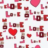 Teste padrão do amor dos corações do dia de Valentim Imagens de Stock Royalty Free