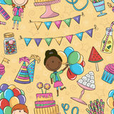 Teste padrão do aniversário Imagem de Stock Royalty Free