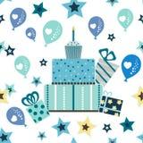 Teste padrão do aniversário da criança Fotos de Stock Royalty Free