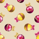 Teste padrão do ano novo com bola Papel de parede do Natal Imagens de Stock