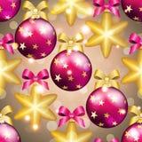 Teste padrão do ano novo com bola Papel de parede do Natal Imagem de Stock