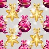 Teste padrão do ano novo com bola Papel de parede do Natal Imagem de Stock Royalty Free