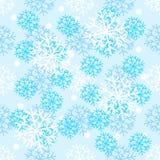 Teste padrão do ano novo com elementos da decoração do Natal Boas festas neve do teste padrão Foto de Stock Royalty Free