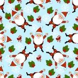 Teste padrão do ano novo com elementos da decoração do Natal Boas festas teste padrão Fotografia de Stock Royalty Free