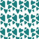 Teste padrão do azul, corações de turquesa com branco, interno, cursos do curso, firmware ao dia do Valentim de Saint em um fundo ilustração royalty free