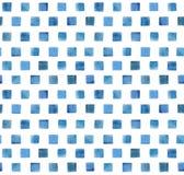 Teste padrão do azul da aquarela Fotos de Stock