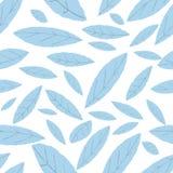 Teste padrão do azul da folha Imagens de Stock