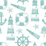 Teste padrão do azul do mar Imagem de Stock Royalty Free