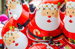 Teste padrão do balão de Papai Noel Imagens de Stock