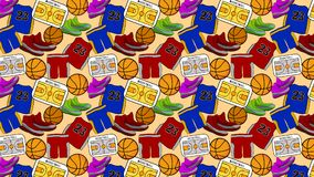 Teste padrão do basquetebol, fundo, contexto ilustração royalty free