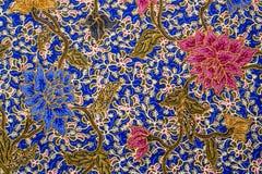Teste padrão do batik da flor Fotografia de Stock