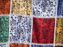 Teste padrão do batik de Bali foto de stock
