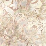 Teste padrão do Batik de Brown Fotografia de Stock