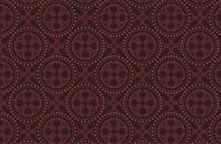 Teste padrão do batik do marrom escuro Foto de Stock Royalty Free