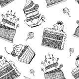 Teste padrão do bolo Fotografia de Stock
