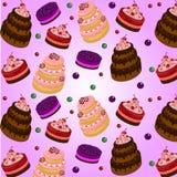 Teste padrão do bolo Imagens de Stock