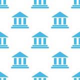 Teste padrão do branco do banco Fotos de Stock