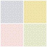 Teste padrão do Bullseye nos Pastels ilustração do vetor