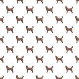 Teste padrão do cão da casa sem emenda ilustração do vetor