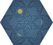 Teste padrão do céu nocturno Foto de Stock