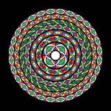 Teste padrão do círculo ilustração royalty free