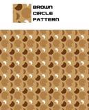 Teste padrão do círculo de Brown Imagens de Stock