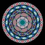 Teste padrão do círculo de cores diferentes ilustração royalty free
