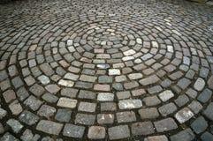 Teste padrão do círculo do Cobblestone Imagem de Stock Royalty Free