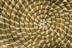 teste padrão do círculo do weave de cesta da textura fotografia de stock
