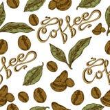 Teste padrão do café Fotografia de Stock Royalty Free