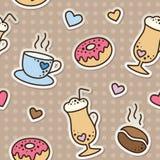 Teste padrão do café Imagem de Stock