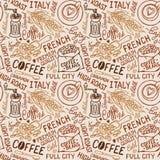 Teste padrão do café Foto de Stock Royalty Free