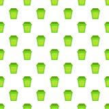 Teste padrão do caixote de lixo de Eco, estilo dos desenhos animados Fotografia de Stock