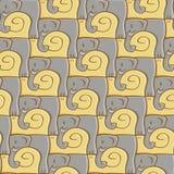 Teste padrão do caracol e do elefante Imagens de Stock Royalty Free