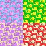 Teste padrão do caracol e do elefante Foto de Stock