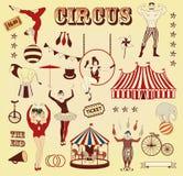 Teste padrão do circo ilustração royalty free