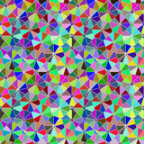 Teste padrão do citrino do mosaico de Polycolour Fotos de Stock Royalty Free