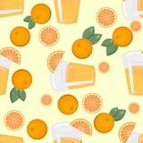 Teste padrão do citrino Fundo da fruta Fundo brilhante do verão com limão e laranja Fotos de Stock