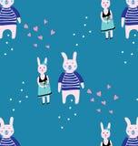 Teste padrão do coelho Fotografia de Stock Royalty Free